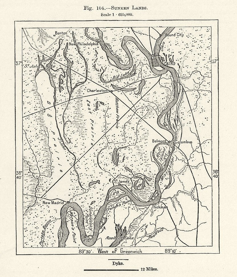 New Madrid area once had a seashore Rivers rerouted