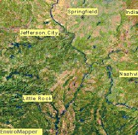 Landform Map Lower Mississippi Valley
