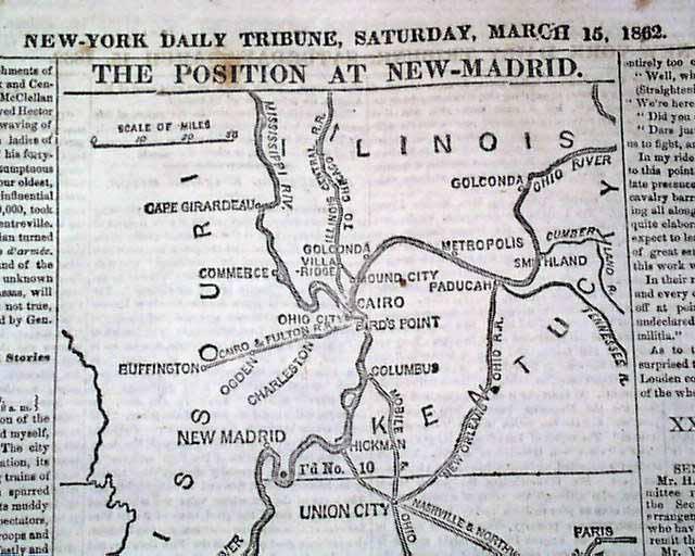 Civil War Battle Island New Madrid Mo - Show me a map of missouri